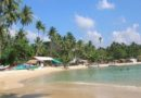 La plage d'Unawatuna, au Sud du Sri Lanka